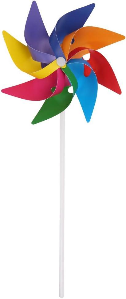 Kofun - Molinillo de viento, para decoración de jardín, patio, fiesta, camping o como juguete infantil: Amazon.es: Hogar