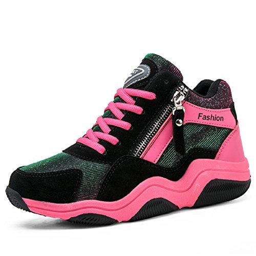7 Zeppa da Tacco Nero Sneakers Scarpe Stealth Sportive da Donna Camminata Interna LILY999 Ginnastica Scarpe Rosa cm Basse P0wvRE