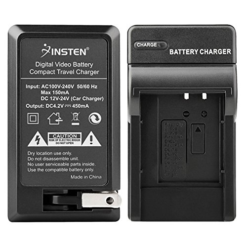 Insten NP-BK1 NPBK1 Type K Li-ion Battery Charger Set (AC Wall/DC Car Adapter) Compatible with Sony DSC DSC-S750 DSC-S780 DSC-S950 DSC-S980 DSC-W180 DSC-W190 -