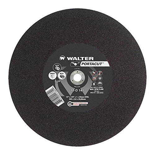 Walter Portacut High Speed Cutoff Wheel, Type 1, Round Hole, Silicon Carbide, 14
