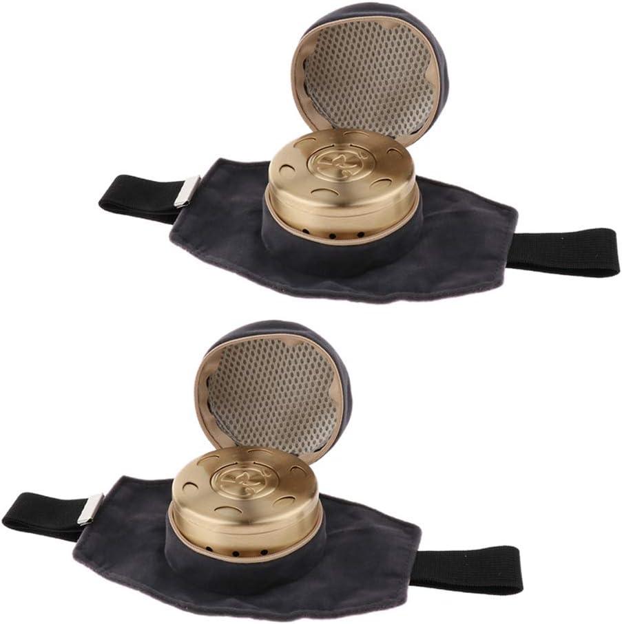 sharprepublic 2PCS Caja De Moxibustión De Cobre Portátil Caja De Moxa Multifunción Sin Humo Moxibu: Amazon.es: Hogar