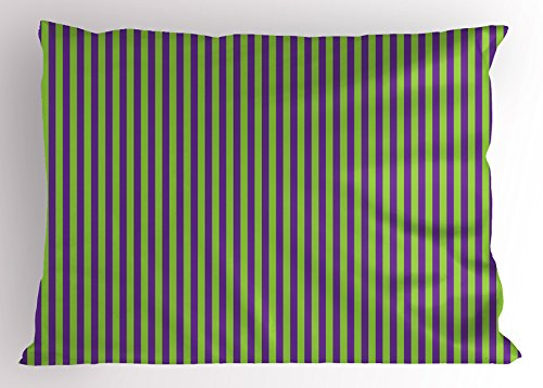 Match Stripes Wallpaper (Ambesonne Pop Art Decor Pillow Sham, Vintage Retro 50s 60s Style Bold Stripes Rooms Wallpaper Image, Decorative Standard King Size Printed Pillowcase, 36 X 20 Inches, Royal Blue and Lime Green)