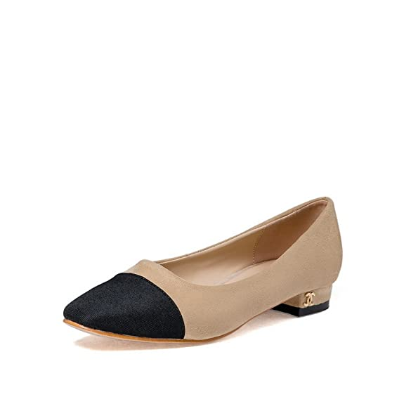 Womens Low-Heel No-Closure Assorted Color Pointed-Toe Suede Loafers Shoes MMS05575
