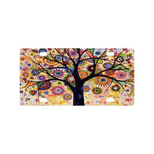 Art Tree License Plate with Durability and Strength -12