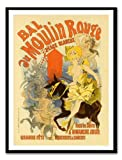 Iposters Bal Au Moulin Rouge Print Magnetic Memo Board Black Framed - 41 X 31 Cms (approx 16 X 12 Inches)