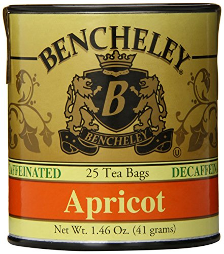 Bencheley Tea Bags Decaf, Apricot, 25-Count , 1.46 Oz (Pack of 6)