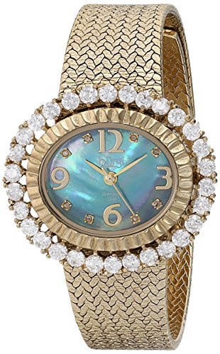Burgi Women's BUR075BU Analog Display Quartz Gold Watch