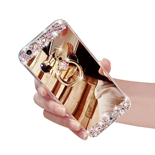[해외]애플 아이폰 5 5S SE 럭셔리 미러 라인 석 케이스/Apple iPhone 5 5S SE Luxury Mirror Rhinestone Case