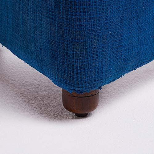 玄関ベンチ スツール 収納ベンチ 靴収納 ベンチ ホーム&GardenFurniture布張りFootstoo玩具足メイクスツール変更靴ベンチキッチン靴ベンチ(カラー:ブルー) エントランスベンチ 省スペース (色 : 青, サイズ : 45x33cm)