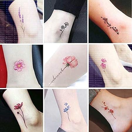 HNSYDS Pegatinas De Tatuaje A Prueba De Agua For Mujer Pequeñas ...