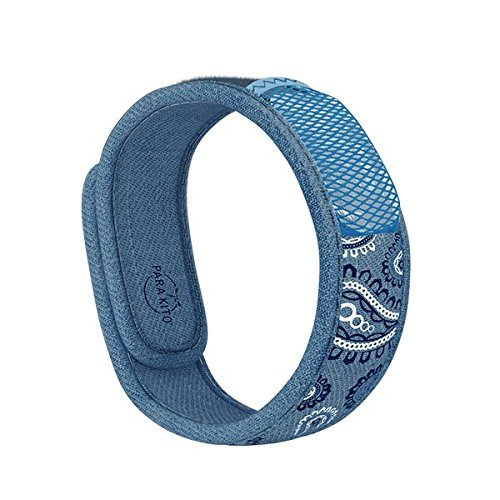 Parakito, Mosquito Repellent Wristband Bracelet - Limited Edition 2019 Mosquito Repellent Wristband, Waterproof, Deet Free, 100% All Natural Plant Based - Blue Jean