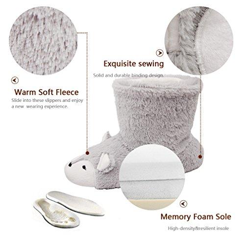 Fox Boot Warm Low Cute Slippers Slip Anti Womens Soft Slippers Slippers Slippers Plush Fleece Fox Animal Fuzzy Home r4qSwr