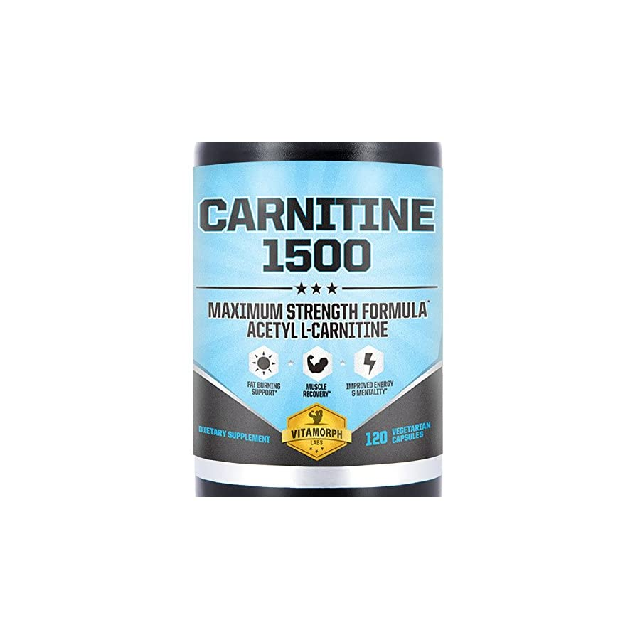 Acetyl L Carnitine 1500mg Per Serving   Highest Potency Acetyl L Carnitine HCl Supplement for Mentality, Energy, Fat Metabolization & Weight Loss   120 Vegetarian Capsules