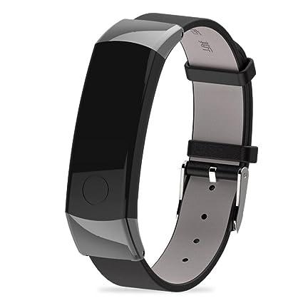 squarex Mijoas - Correa de Piel para Reloj Inteligente Huawei Honor 3, Mujer, Plata, AS Show: Amazon.es: Deportes y aire libre
