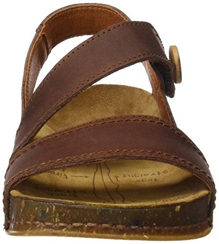 ART 0868 Olio We Walk, Sandalias con Tira de Tobillo para Mujer Marrón (Brown)