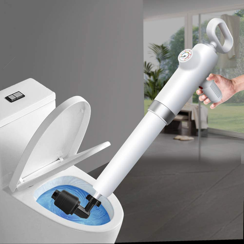 Desatascador Tuberias, Aozzy Desatascador profesional de drenaje Potente desatascador Manual de Alta presión con aire comprimido para cocina, baño, tubo de dragado, Alcantarillado…