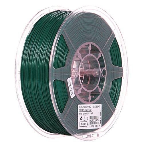 eSUN 1.75mm Green PLA PRO (PLA+) 3D Printer Filament 1KG Spool (2.2lbs), Green, (Pantone 323C)