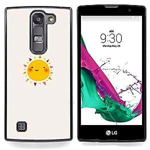 For LG Volt 2 / LG G4 Mini (G4c) - happy drawing watercolor sunny /Modelo de la piel protectora de la cubierta del caso/ - Super Marley Shop -