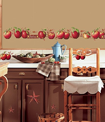 Apples 40 Big Wall Decals Country Stars Border Kitchen Stickers Room Decor NEW (Apple Wall Border)