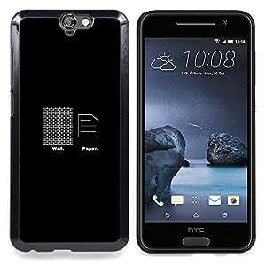 """Qstar Arte & diseño plástico duro Fundas Cover Cubre Hard Case Cover para HTC One A9 (Wall Paper - Gracioso"""")"""