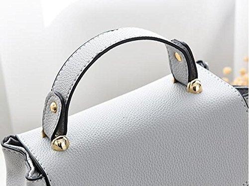 Les élégant Shape Design Leather Femmes Top Look Sacs ZM Sac Pour V Shoulder Mode Handle Main à à Darkgray Main Tqz8pwf