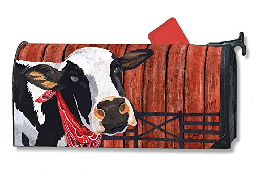 Studio M Home Mailbox Cover MailWrap - Cow Cowboy Down On The Farm by Studio M