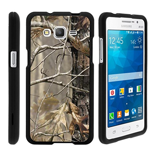 MINITURTLE Case Compatible w/ Miniturtle [Samsung Galaxy Grand Prime case, Grand Prime Cover] [Snap Shell] 2 Piece Hard Plastic Case Fallen Leaves Camouflage