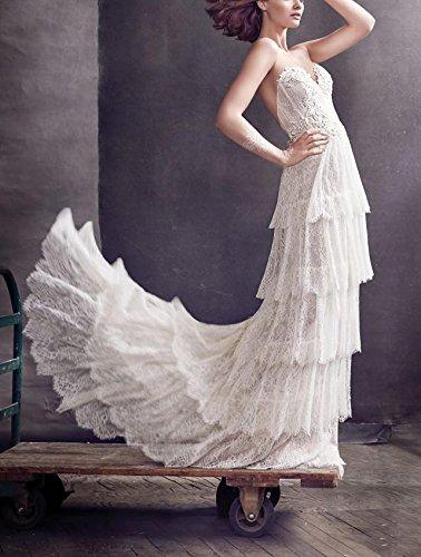 Kleid Fanciest A Linie Weiß Damen wqqptTO