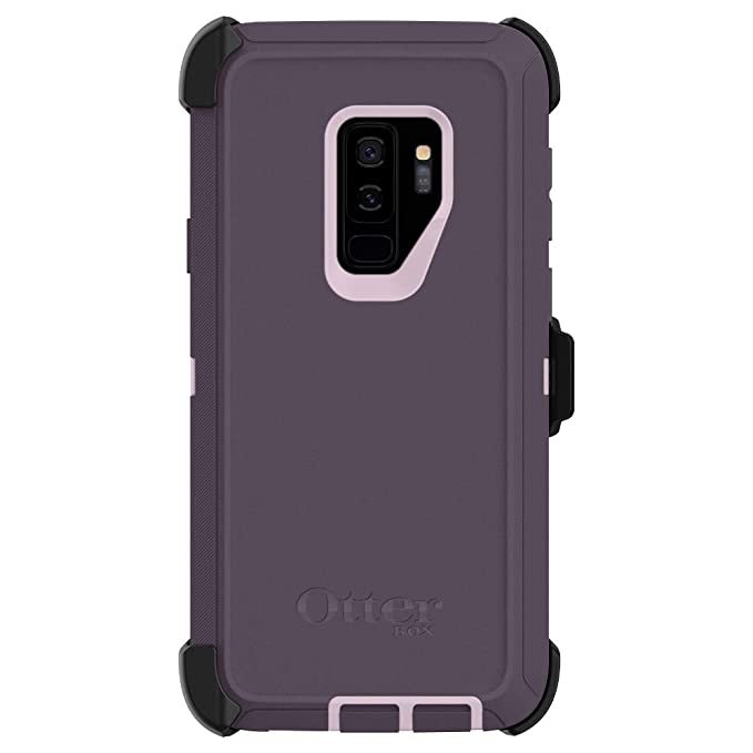 pretty nice ccd35 6a6ee OtterBox Defender Series Case & Holster for Galaxy S9 Plus (77-58155)  Purple Nebula - Renewed