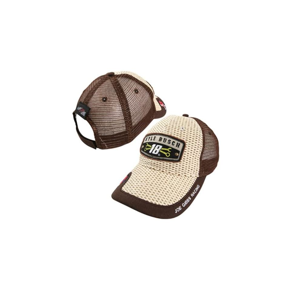 NASCAR Chase Authentics Kyle Busch Cool Breeze Straw Adjustable Hat   Natural/Brown