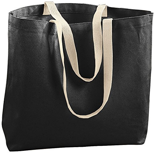 Augusta Sportswear Jumbo Tote Bag, One Size, Black