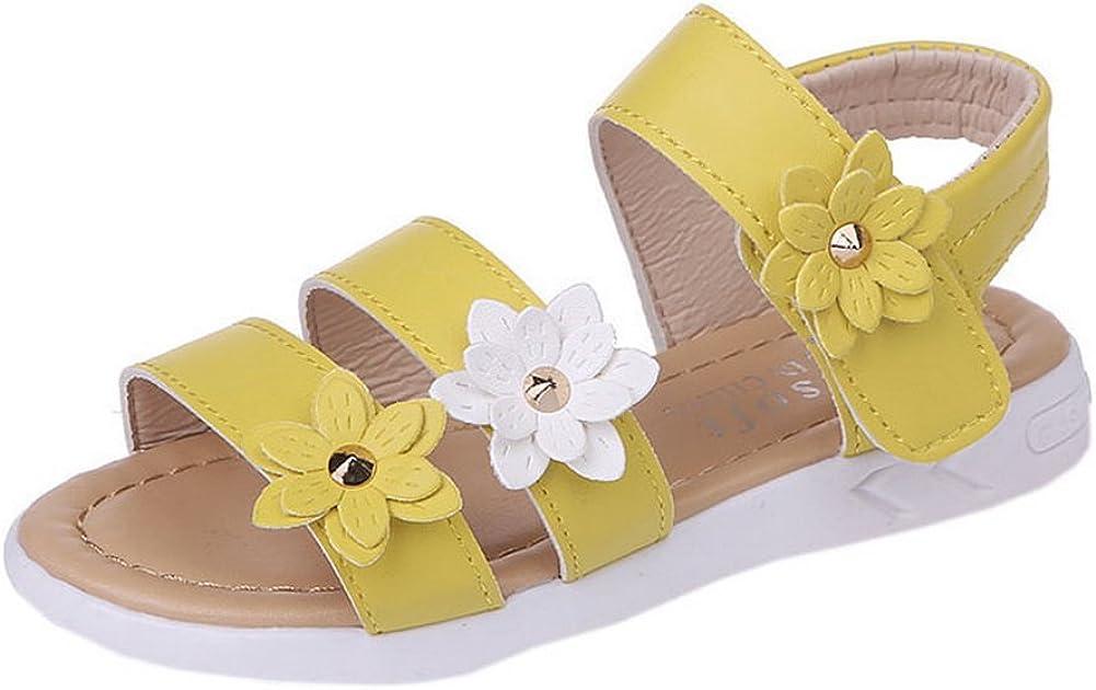 Vokamara Big Girls Fashion Bow Sandals Summer Shoes