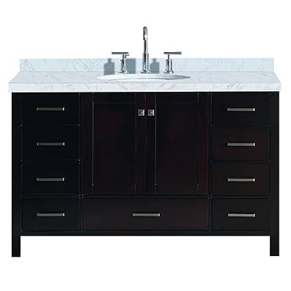 ariel a055s vo esp cambridge 55 inch bathroom vanity in espresso rh amazon com 55 inch bathroom vanity double sink 55 inch bathroom vanity canada