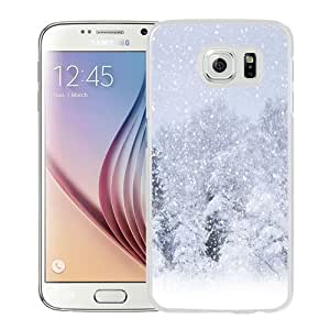 NEW Unique Custom Designed Samsung Galaxy S6 Phone Case With Heavy Snow Forest_White Phone Case wangjiang maoyi