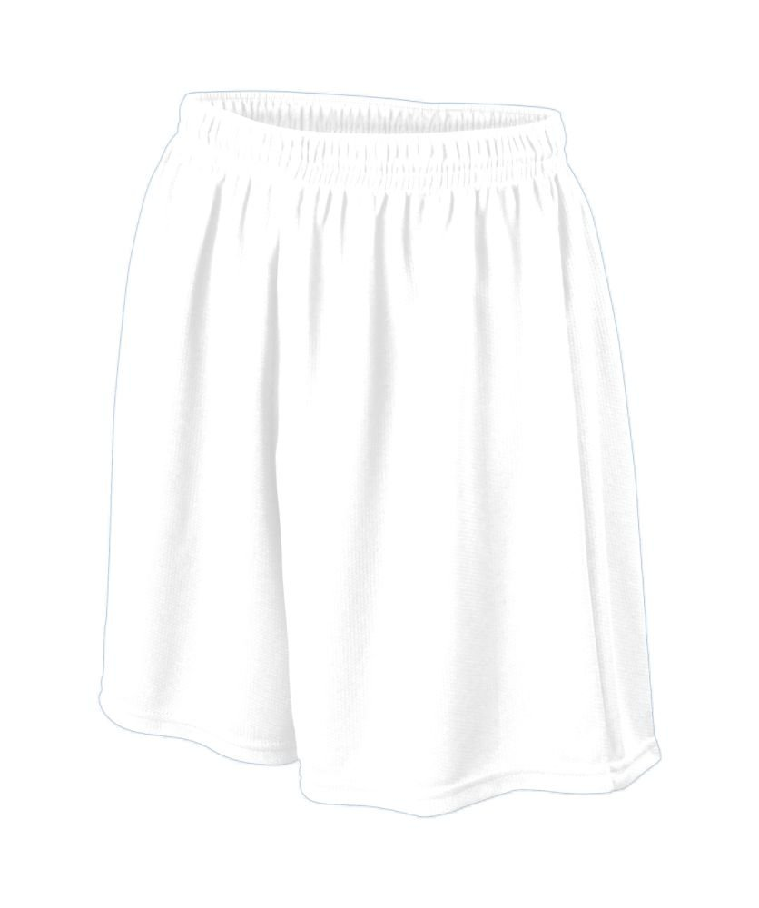 Augusta Sportswear Boys ' WickingメッシュSoccer Short B008KD2IMM Large|ホワイト ホワイト Large