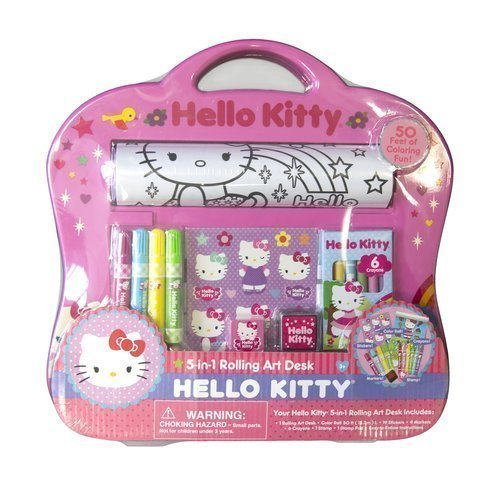 (SANRIO Hello Kitty 5-in-1 Rolling Art Desk )
