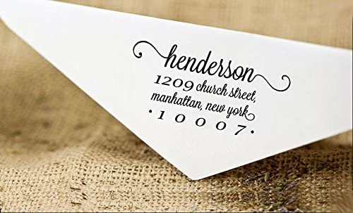 Legacy Calligraphy Script Custom Rubber Stamp Personalized Stationery Cards SELF INKING Address Rubber Stamper Style 1172