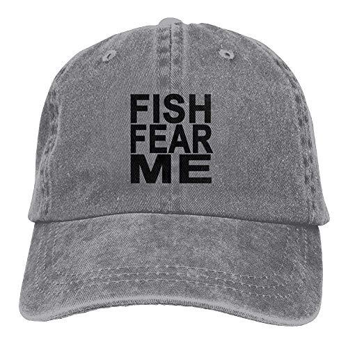 Fish Baseball Male Gorras Hat Fear béisbol Adjustable Denim Great Hat Me ruishandianqi EUw7pqq