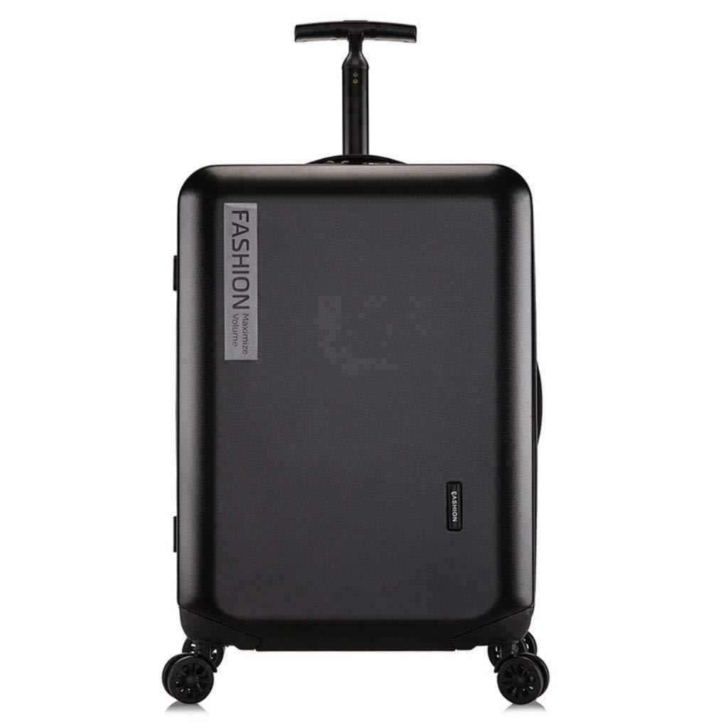 GLJJQMY トロリーケース新しいトロリーケースファッションpcユニバーサルホイールパスワードスーツケース旅行ビジネス20インチビジネス搭乗 トロリーケース (Color : Black, Size : 24 inch) B07SNP7KBN Black 24 inch