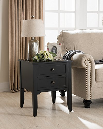 Baxter Side Table in Black with Charging