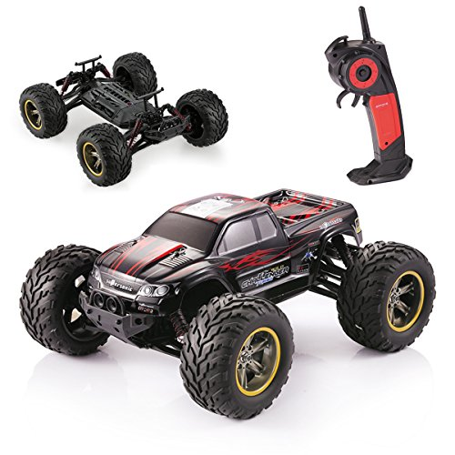 GPTOYS S911 RC Car 1 / 12 Scale Electric Car Supersonic Explorer Offroad 2.4Ghz 2WD 42km/h Waterproof Remote Control Monster Truck - Gift for Kids and Adults - Red
