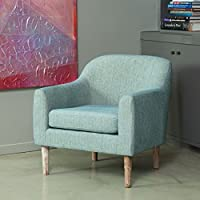 Bellview Teal Fabric Retro Arm Chair
