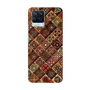 "TRUEMAGNET Premium "" Amazing Flower Mandala Tiles """" Printed Hard Mobile Back Cover for Realme 8 / Realme 8 Pro…"
