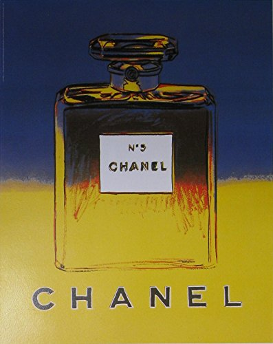 Chanel No. 5 (Blue/Yellow -small format) original vintage (Andy Warhol Chanel No 5 Poster)