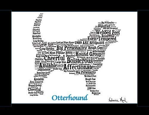 Amazon com: Otterhound Dog Wall Art Print - Personalized Pet