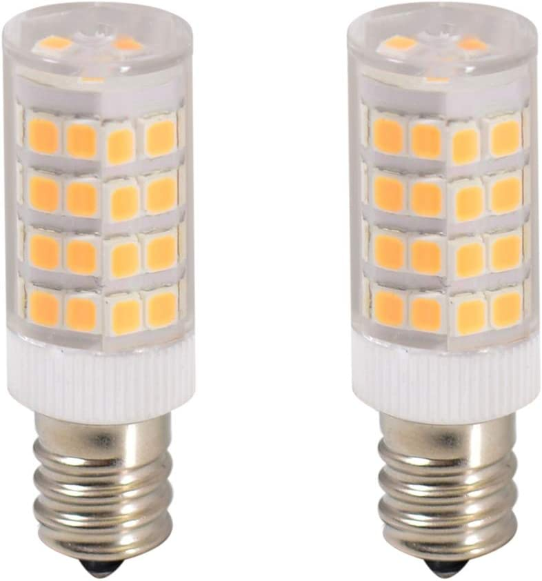 2-LED Light Bulbs E12 110V for Whirlpool 22002263 Refrigerator Dryer Light Bulb (Warm White)
