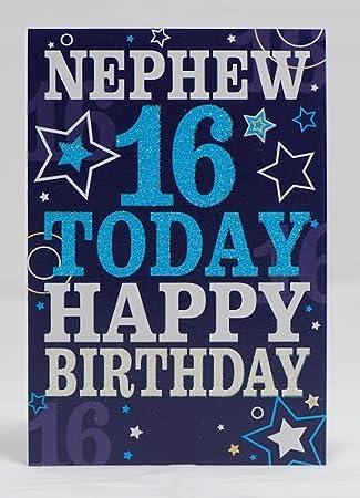 Nephew 16 Today Happy Birthday Card 16th Birthday By Ace Birthdays