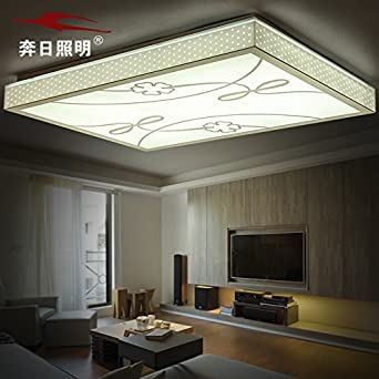 BGmdjcf Modern and minimalist square led ceiling light atmosphere