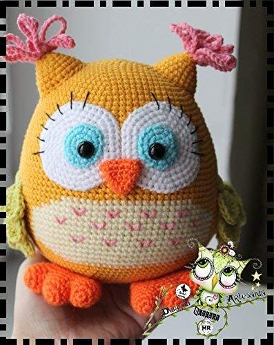 BÚHO HEMBRA AMIGURUMI PERSONALIZABLE (Bebé, crochet, ganchillo, muñeco, peluche, niño
