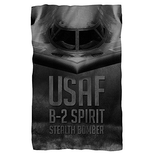 Air Force Stealth Fleece Blanket White 48X80